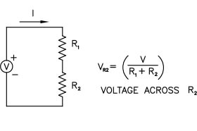 circuit diagram: resistor to reduce voltage in a circuit